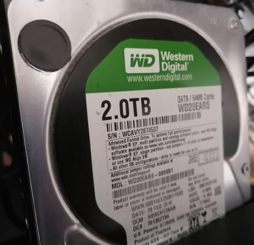 2TBの内蔵hdd